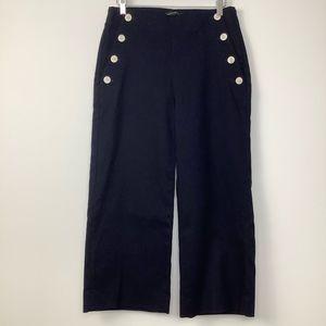 Banana Republic Wide Leg Sailor Pants in Navy Blue